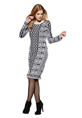 трикотажное платье с жаккардовым узором